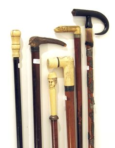 bone and horn antique canes.