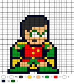 Robin Teen Titans Perler Bead Pattern