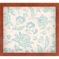 Ophelia & Co. 'Toile Fabrics XI' Graphic Art Print Format: Canadian Walnut Medium Framed
