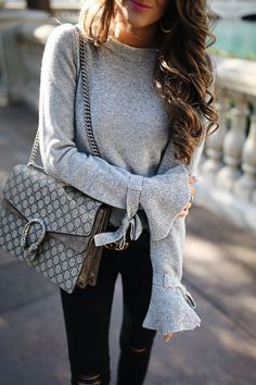Southern Curls & Pearls: Bell Sleeve Sweater