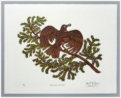 """ROBIN & JUNIPER"" WOODCUT"