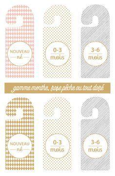 Accessoires de dressing pour bébé à imprimer