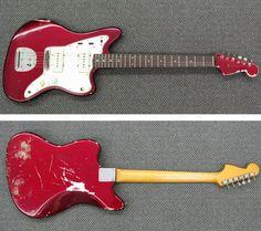 Guitars Gibson, Fender, Guild, Martin, Vintage - Gbase for musicians Fender Jaguar, Candy Apple Red, Fender Guitars, Guitar Amp, Red Color, Rock, Vintage, Music, Instruments