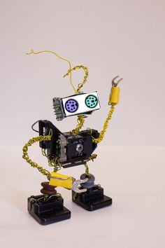 Robot Found Object Sculpture made from Computer by NancySolbrig, $28.00