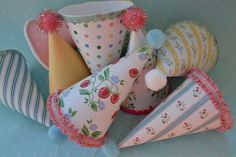 Vintage Party Hats....must for {Bells} 5th bday party