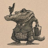 Alligator Salesman - The Daily Zoo - by Chris Ayers