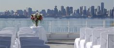 Terrace ceremony at the Pinnacle Hotel at the Pier #chairdecor