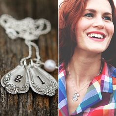 omg i love this spoon necklace. never thought about cutting it short and stamping it! hello diy.