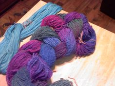 Cotton/Rayon popcorn yarn. Dyed with jacquard mx dyes.