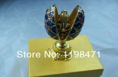 Handmade crafts Russian Eggs Matryoshka Creative Crafts Home Decoration craft gift casket Jewelry Box  best gift  Free Shipping