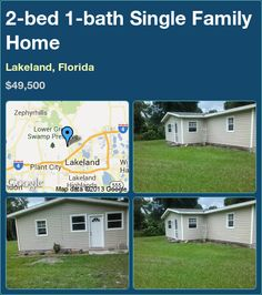 2-bed 1-bath Single Family Home in Lakeland, Florida ►$49,500 #PropertyForSale #RealEstate #Florida http://florida-magic.com/properties/4854-single-family-home-for-sale-in-lakeland-florida-with-2-bedroom-1-bathroom