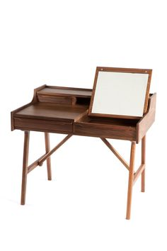 this would be perfect for Kels | Vanity Walnut Desk