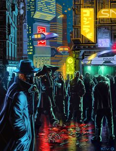 The crowds looked on as what remained of the Speed Freaks attacked the City Guard station. Everything depended on them keeping the place locked down for one hour. CYBERPUNK REVISITED
