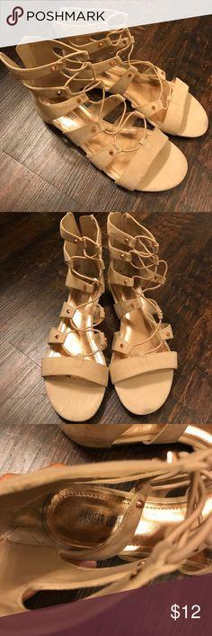 Jennifer Lopez Gladiator sandals Worn twice with some wear. Jennifer Lopez Shoes Sandals