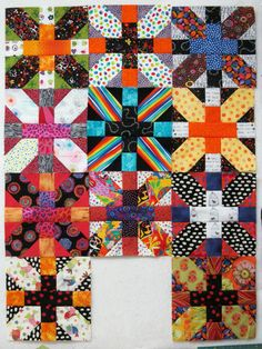 Exuberant Color: Japanese x and + quilt blocks - love!!