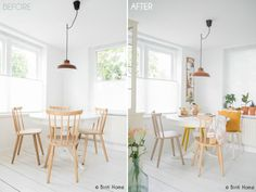 Binti Home Story, before and after : My painted chairs and table with Flexa creations