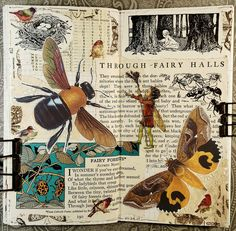 Mixed Media Art Projects Collage Journal Pages Ideas art mixed media journal pages Collage Book, Collage Art Mixed Media, Mixed Media Journal, Book Art, Art On Book Pages, Notebook Collage, Kunstjournal Inspiration, Art Journal Inspiration, Magazine Collage
