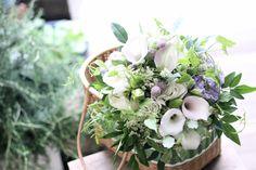 カラー/レースフラワー/バーゼリア/ブーケ/花束/花どうらく/花屋/http://www.hanadouraku.com/bouquet