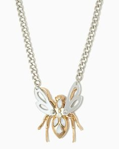 charming charlie   On the Wing Charm Necklace   UPC: 410006313484 #charmingcharlie