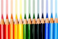 Make sure all the crayons are in the right colour order coz they look prettier.