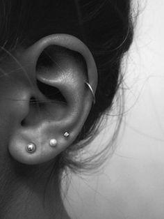 Rose Gold Bar earrings in Rose Gold fill, rose gold bar studs, gold bar post earrings, minimalist jewelry - Fine Jewelry Ideas Helix Piercings, Smiley Piercing, Cool Ear Piercings, Ear Peircings, Tongue Piercings, Piercings For Small Ears, Cute Cartilage Piercing, Ear Piercings Chart, Double Ear Piercings