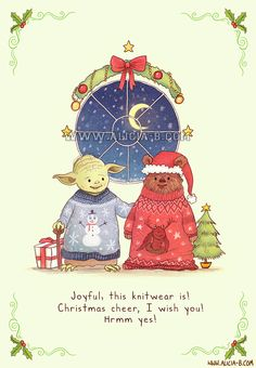 Geeky Star Wars / Hunger Games / Harry Potter / Lord of the Rings Hobbit / Avengers Christmas Cards by alicia-b
