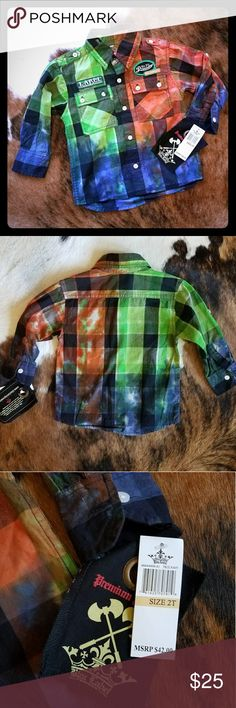 2T Boys Blac Label button down Multicolored Boys 2T Blac Label button down Blac Label  Shirts & Tops Button Down Shirts