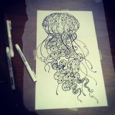 Jellyfish Tattoo Rendering by lindsey