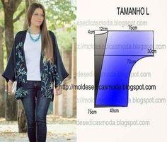 "98 Likes, 5 Comments - Fátima Carvalho Lopes (@moldes_dicas_moda) on Instagram: ""http://moldesdicasmoda.com/casaco-facil-de-fazer-4/ #moldes #moda #modafeminina #stylefashion…"""
