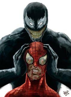 Spider-man & Venom by JAGZ