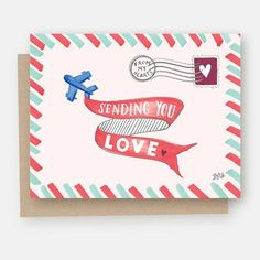 Sending You Love - A2 Note Card #Gifts #Note-Cards #valentine's