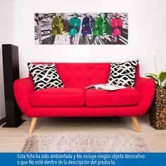 SOFA CAPRI ROJO 156x82x82 cm - Homecenter.com.co
