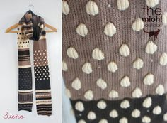 Garment Design Detail - great idea for using bobbles, stripes either to use up yarn or to texture and colour block