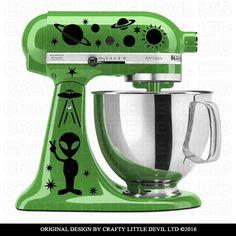 Alien Mixer Decal by CraftyLittleDevilLTD on Etsy