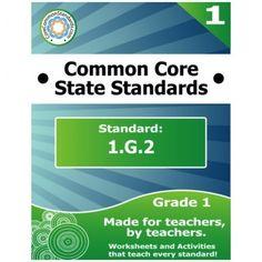 1.G.2 First Grade Common Core Bundle