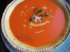In the Soup, Roasted Red and Yellow Tomato Soup