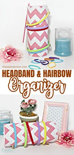 Easy, quick and gorgeous way to make some headband storage and most importantly, mess be gone!  #easypeasycreativeideas #recycled #recycling #recycledcrafts #crafts #crafting #organizer #headbandorganizer #headbandholder #organize #organization Diy Headband Holder, Headband Storage, Crafts To Make, Easy Crafts, Easy Diy, Crafts For Kids, Sewing For Beginners, Creative Crafts, Easy Peasy