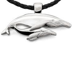 Silver Nala & Mirrhi Humpback Whale Pendant