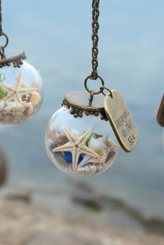 Dreaming of the sea necklace Beach necklace Ocean by Maristella890