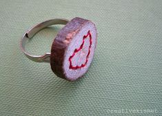 embroidered wood ring?!