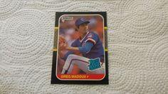 1987 Donruss Greg Maddux single baseball rookie card