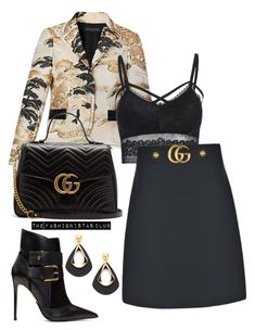 """The Fashionistas CLUB"" by kemiakinajayi on Polyvore featuring Gucci and Balmain"