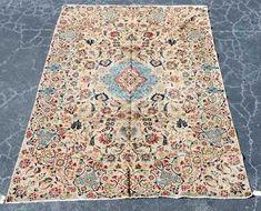 "Hand Woven Kashan Rug or Carpet, 8' 6"" x 12' 4"""