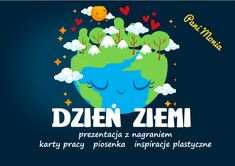 Archiwa: Do pobrania - Pani Monia Diy And Crafts, Crafts For Kids, Earth Day, Kids And Parenting, Kindergarten, Education, Youtube, Google, Geography