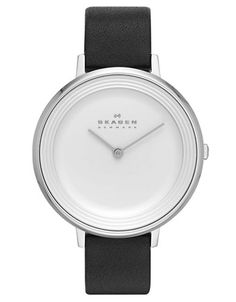 Skagen: Ditte Silver Tone and Black Watch