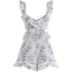 ZIMMERMANN Jasper Honeycomb Playsuit (6.987.815 IDR) ❤ liked on Polyvore featuring jumpsuits, rompers, dresses, cut out romper, short romper, zimmermann romper, summer romper and honey comb