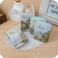 Cute Retro British Post Cards With Vintage Tin Box Container Random Delivery 10.5 * 7.5 * 2 cm  #Affiliate