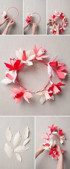 Fleur de papier la couronne de Saint-Valentin - The House That Lars Construit