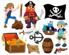 cartoon pirate icon Stock Photo