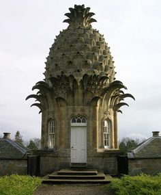 """""""The Pineapple"""" in Dunmore Park (Scotland) - Some people say this the the most bizarre building in Scotland... . . . Built by John Murray in 1761 as a birthday present for his wife Susan."""